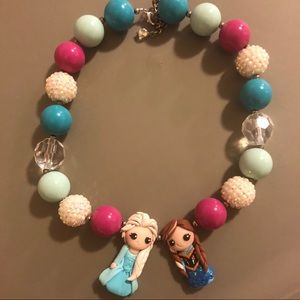 Frozen Anna and Elsa Necklace